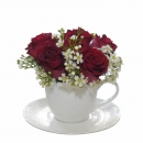 Red & White Rose Cup