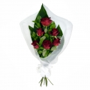 6 Red Roses in Wrap