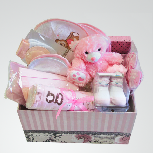 Baby Gift Sets South Africa : Baby hamper pink l buy flowers interflora