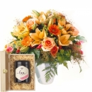 Gorgeous Bouquet of Flowers with Swiss blossom honey