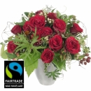 Bouquet I love you, with Fairtrade Max Havelaar-Roses, big blooms