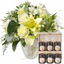 Exquisite Magic of Blossoms with honey gift set