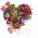 Funeral: Eternal nature; Funeral Bouquet Heart