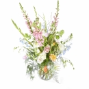 Funeral: Plenty in life; Funeral Bouquet in a vase