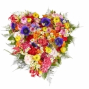 Funeral: Silent words; Funeral Bouquet Heart