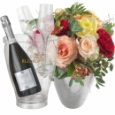 Magic of Roses with Prosecco Albino Armani DOC (75 cl) incl. ice bucket and two sparkling wine flute