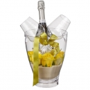 "Golden Times: Prosecco Albino Armani DOC (75 cl) incl. ice bucket and two ""Connaisseur"" glasses"