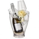 "Charming Beauty: Prosecco Albino Armani DOC (75 cl) incl. ice bucket and two ""Connaisseur"" glasses"