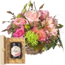 Sweet Spring Basket with Swiss blossom honey