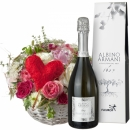 A Basket Filled with Love, with Prosecco Albino Armani DOC (75cl)