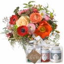 Melody of Spring with Gottlieber tea gift set and hanging gift tag «Get Well Soon»