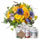 Magic of Spring with Gottlieber tea gift set and hanging gift tag «Good Luck»