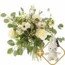 Bouquet: Loving white; includint a white Miffy for  €19,95