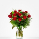 Bouquet: Lovely red roses; excl. vase
