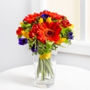 Mixed bouquet in bright colours