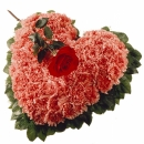 Arrangement: Heart with Carnations