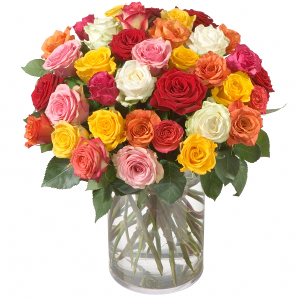 Colorful Bouquet of Roses (36 Roses) - Buy Flowers Online - Interflora -